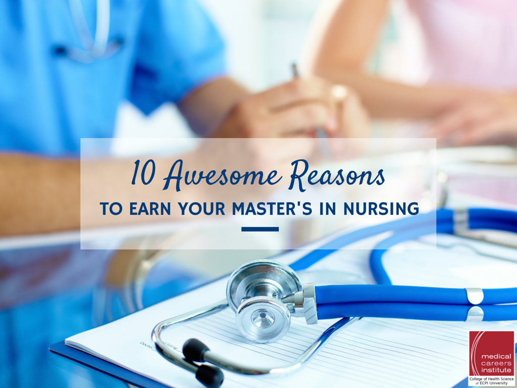 Earning your master's in nursing
