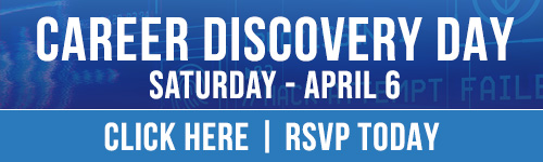 Career Discovery Day April 6th. Click here to RSVP