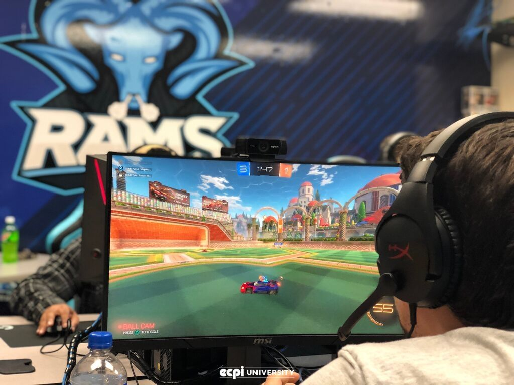 Rocket League Match Goes to Davenport University, ECPI University Rams Prepare for the Next Challenger