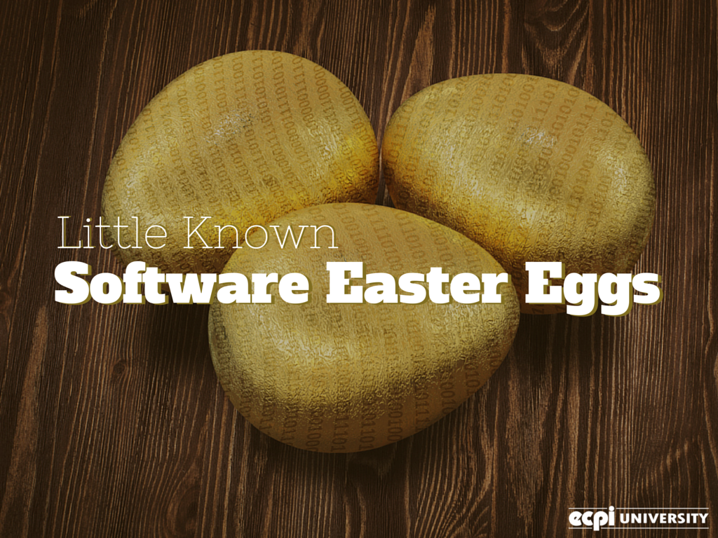 Little Known Software Easter Eggs