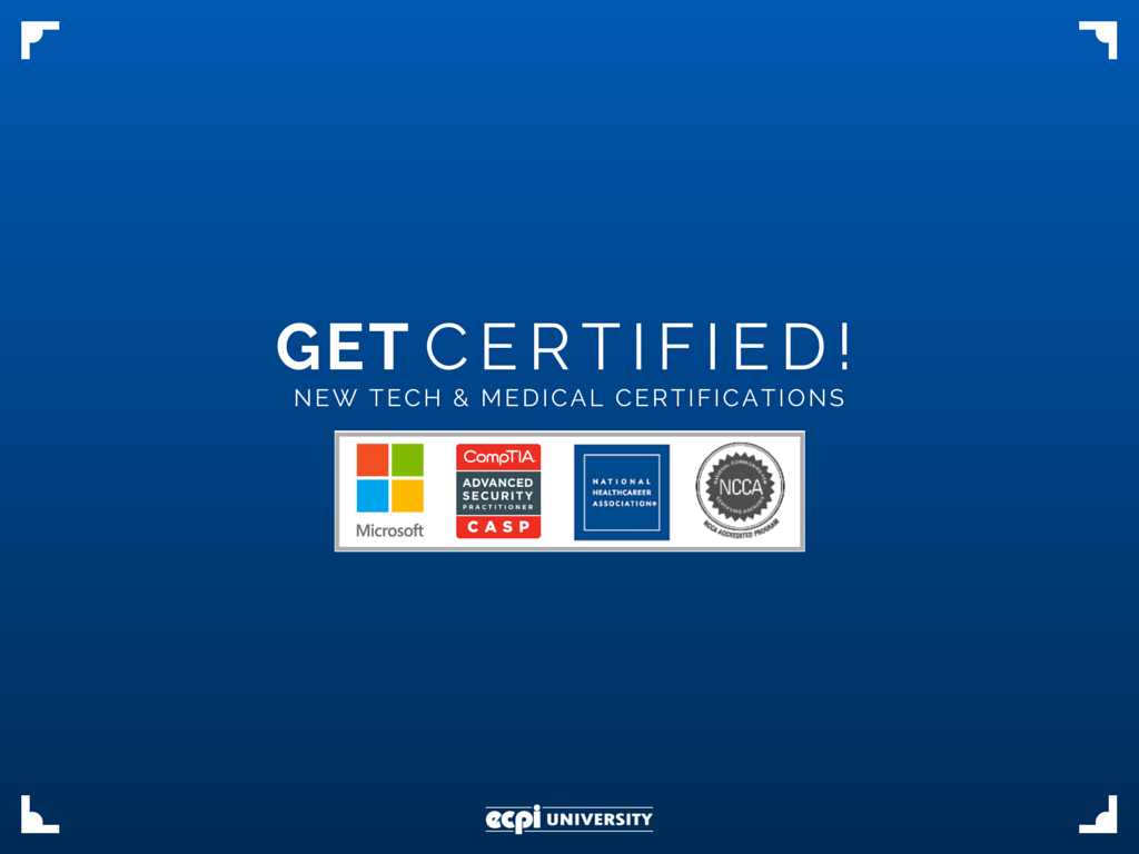 New Medical Assisting Technology Certifications At Ecpi University