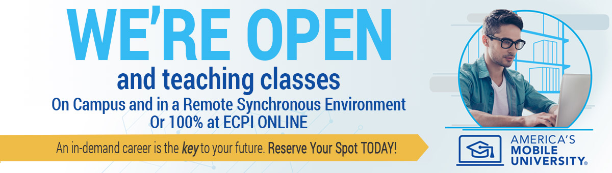 ECPI University, America's Mobile University, offers remote synchronous class delivery to students taking classes at our many campus locations.