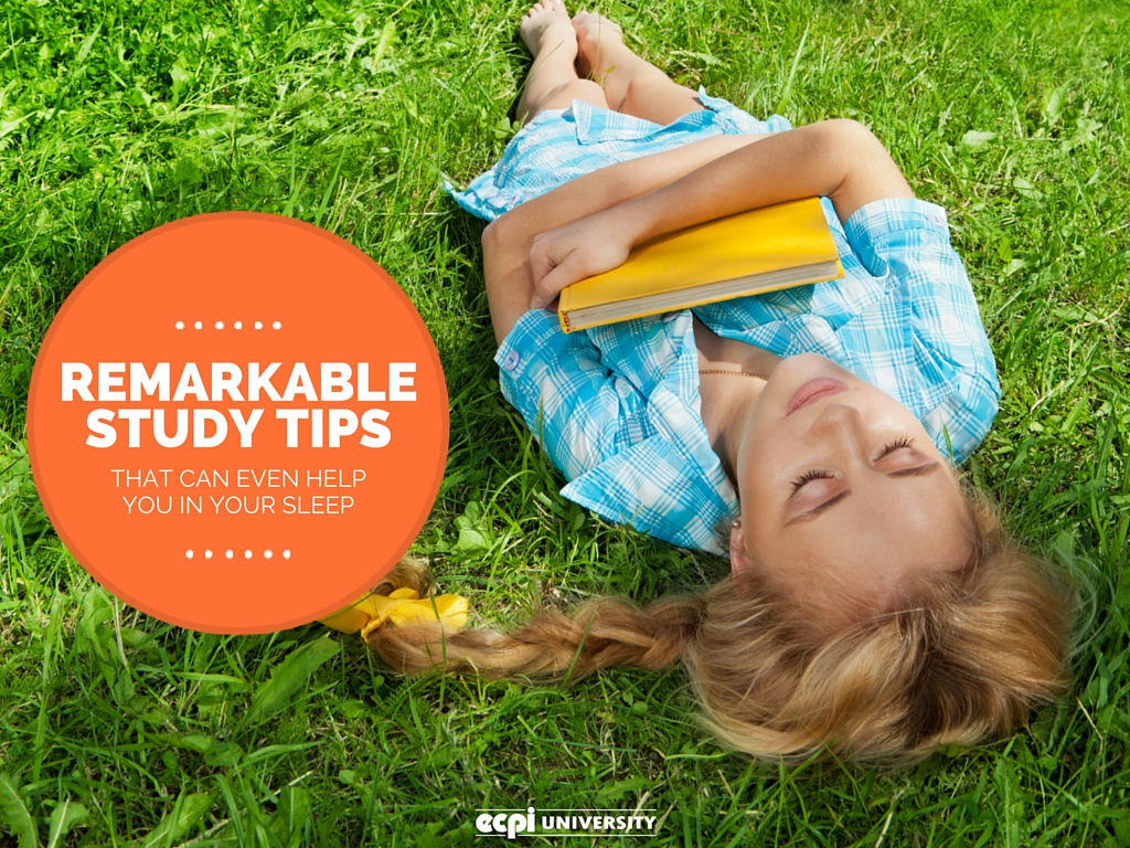 study tips that help while you sleep