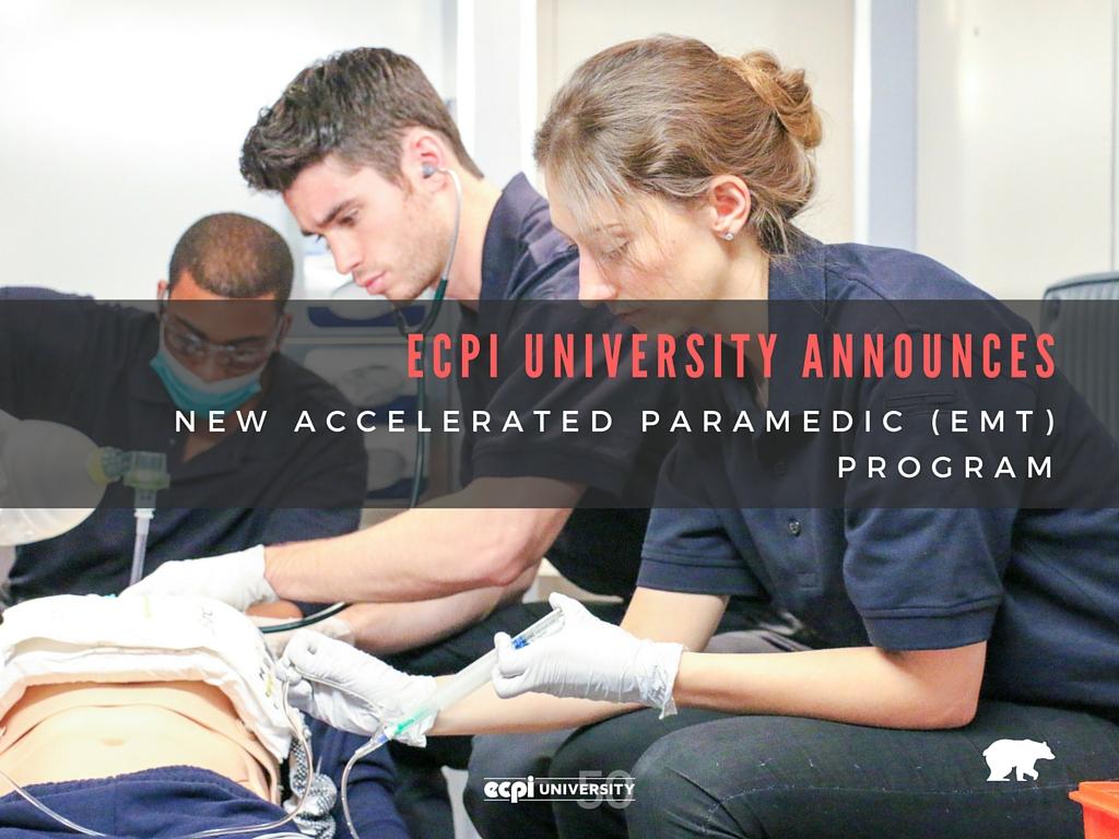 Ecpi University Announces New Accelerated Paramedic Emt