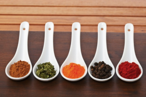 Spices and the taste buds