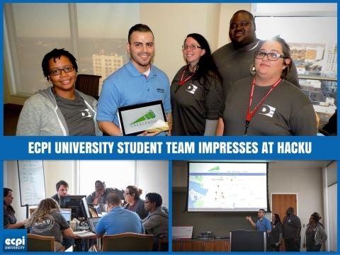 ECPI Student Team at HACKU