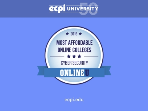 ECPI University Ranked one of the most affordable online cyber security degree programs!