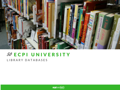 50 ECPI University Library Databases