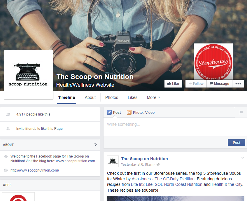 The Scoop on Nutrition Facebook Page