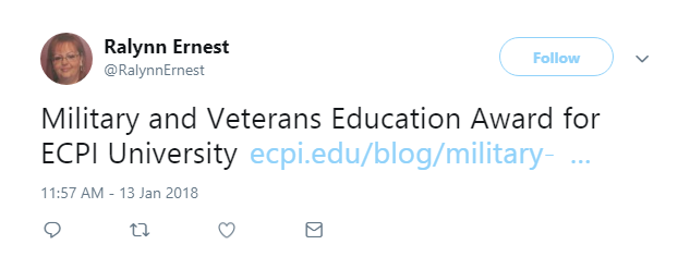 ECPI University Earns #1 National Ranking as Best for Vets